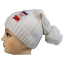 Knitted Beanie with POM POM NTD1651